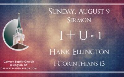 Sunday with Calvary 8/9/20