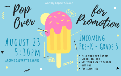 Pop Over for Promotion Children's Event 8/23/20