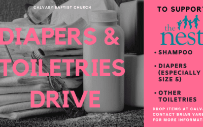 Diapers and Toiletries Collection for The Nest 8/2/20