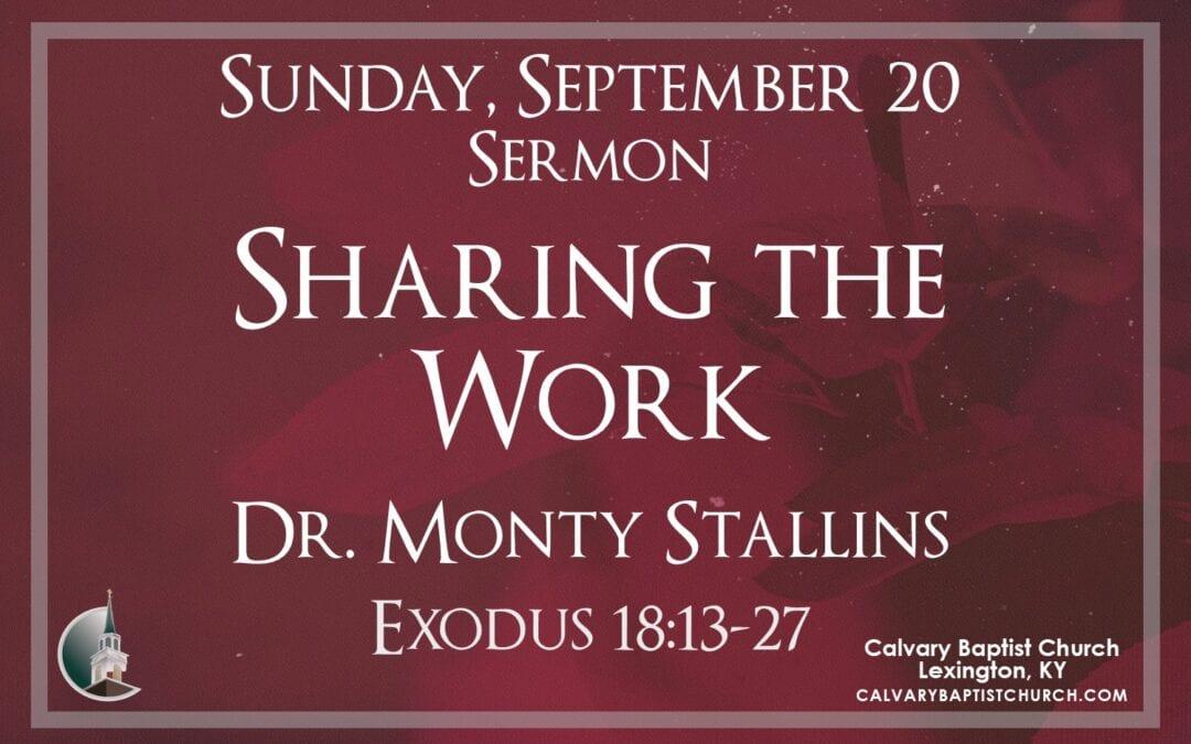 Sunday with Calvary 9/20/20