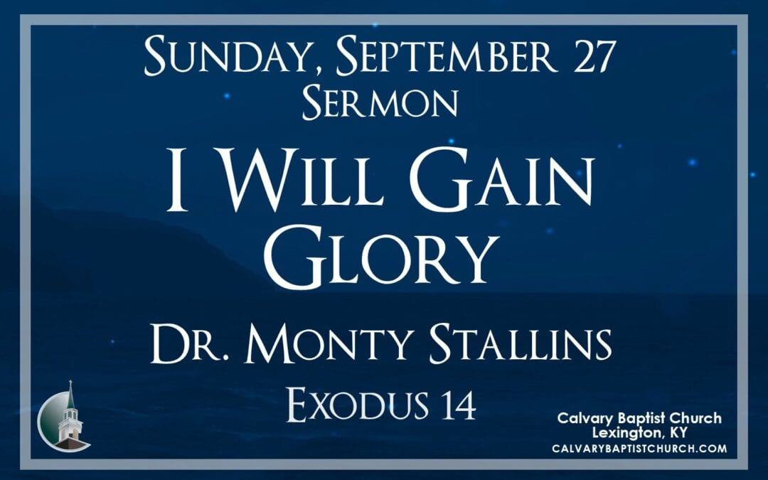 Sunday with Calvary 9/27/20