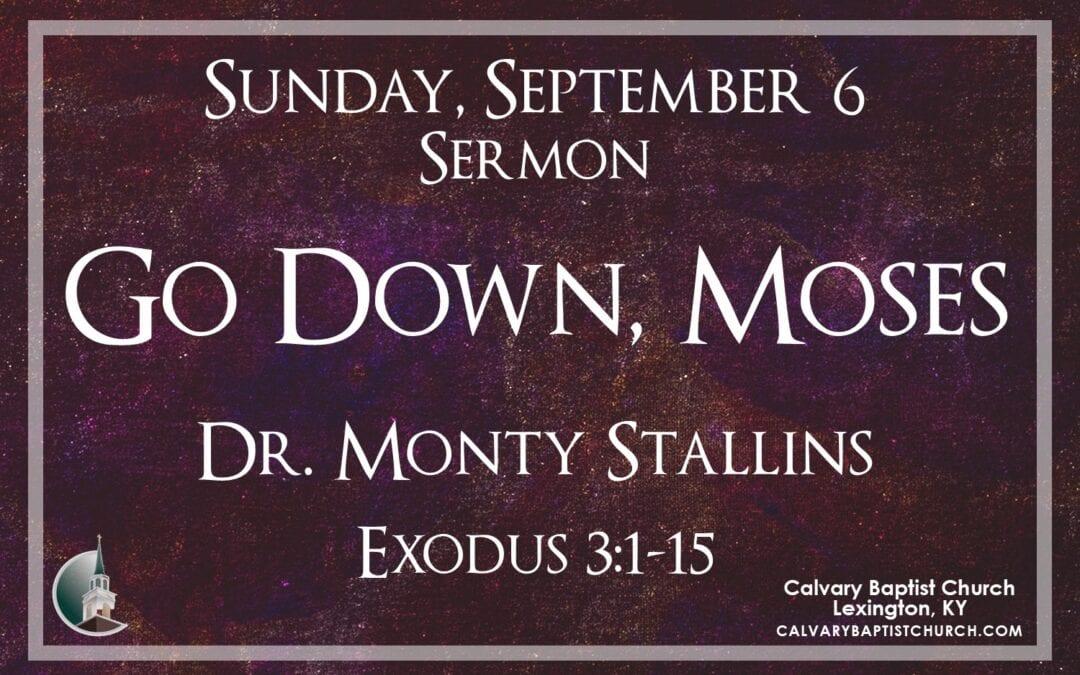 Sunday with Calvary 9/6/20