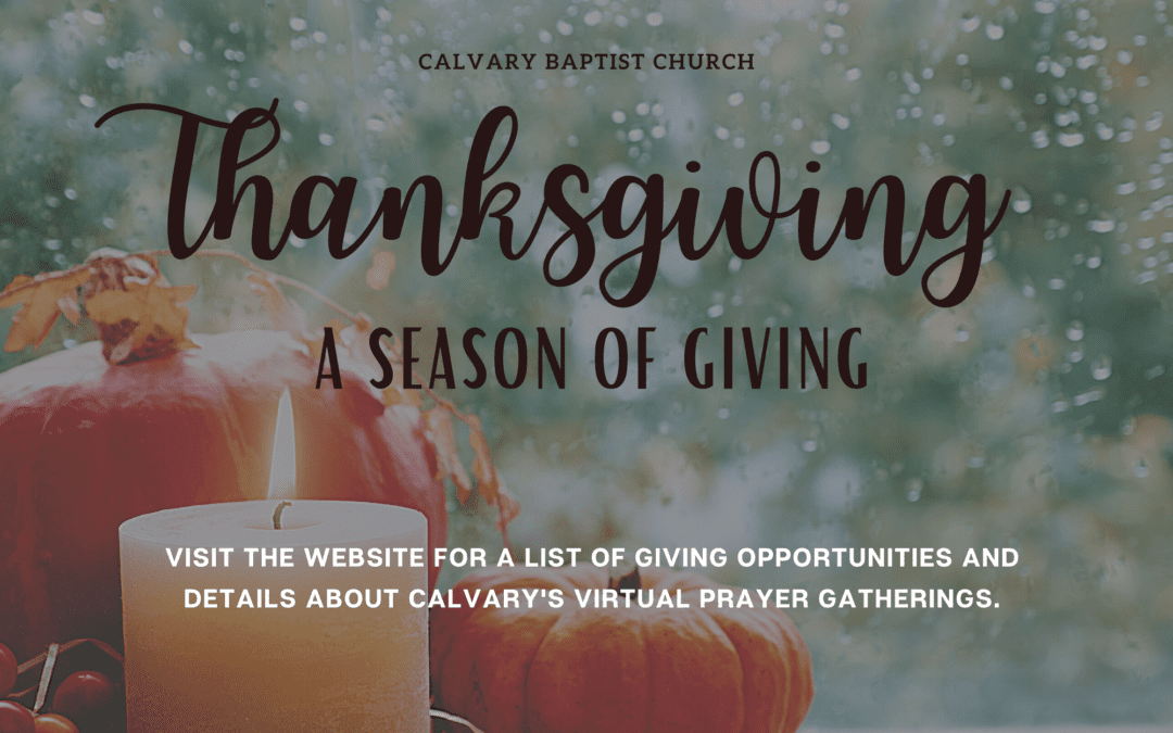 Thanksgiving-A Season of Giving