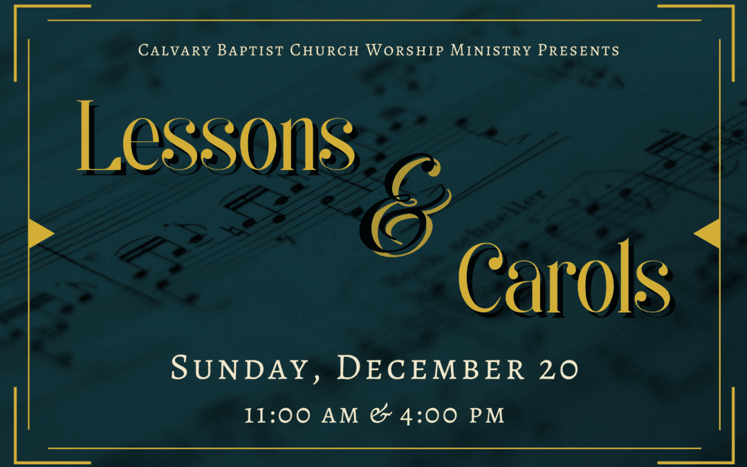 Christmas Music Special Service 12/20/20