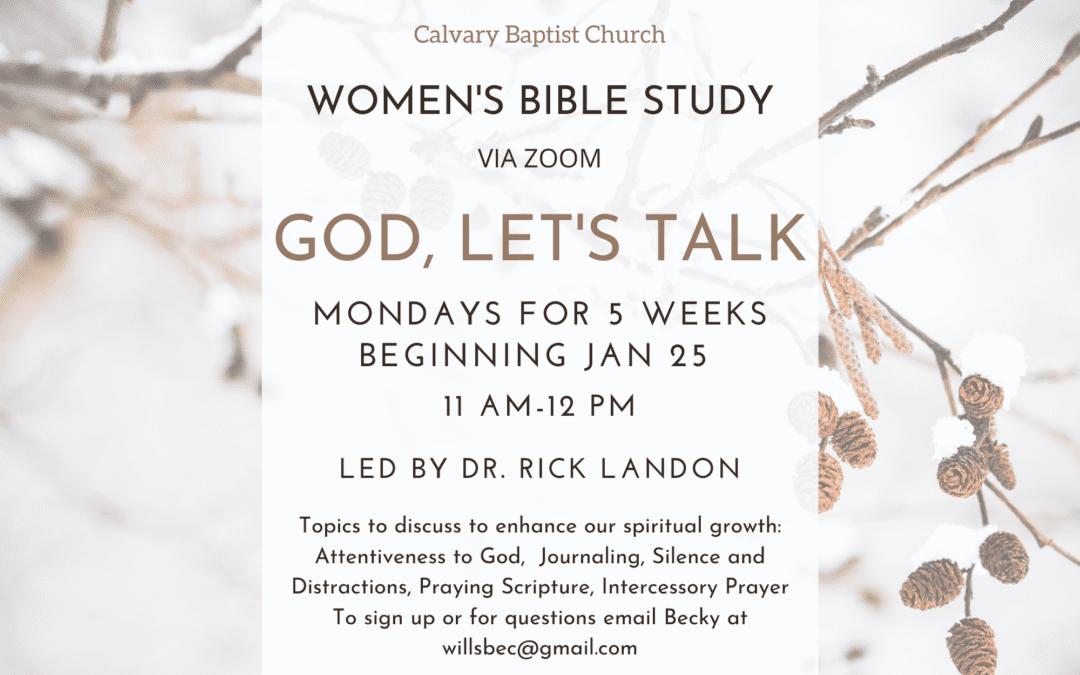 Women's Bible Study 1/25