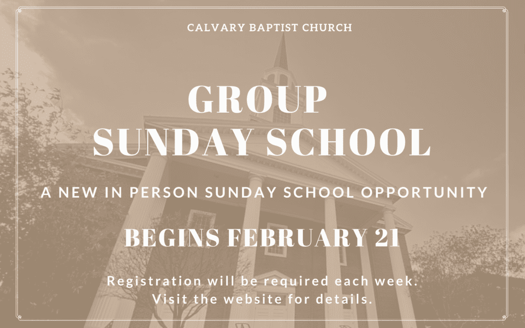 Group Sunday School at Calvary
