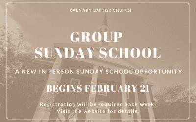 Group Sunday School at Calvary