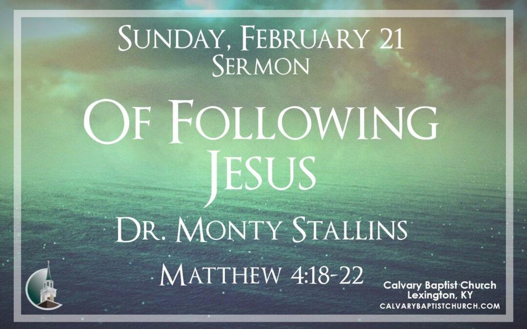 Sunday with Calvary 2/21/21