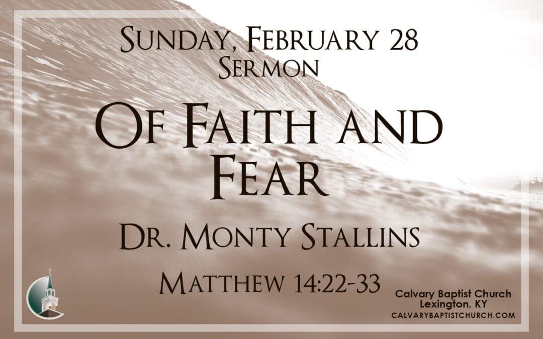 Sunday with Calvary 2/28/21