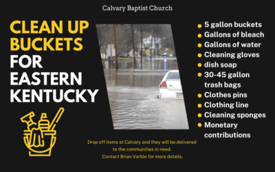 Clean Up Buckets for Eastern Kentucky