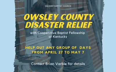 Disaster Response Trip to Owsley County, KY