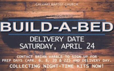 Build a Bed 04/24/21