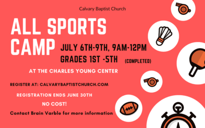 All Sports Camp, July 6-9