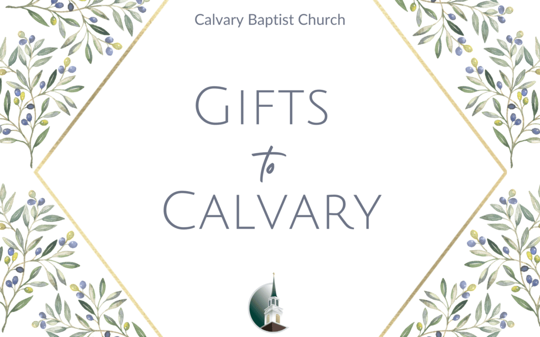 Gifts to Calvary 2020