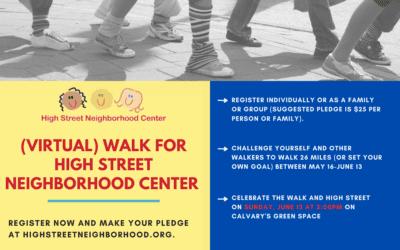 Walk for High Street Neighborhood Center