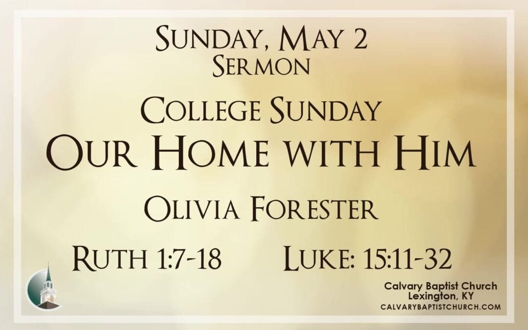 Sunday with Calvary 5/2/21