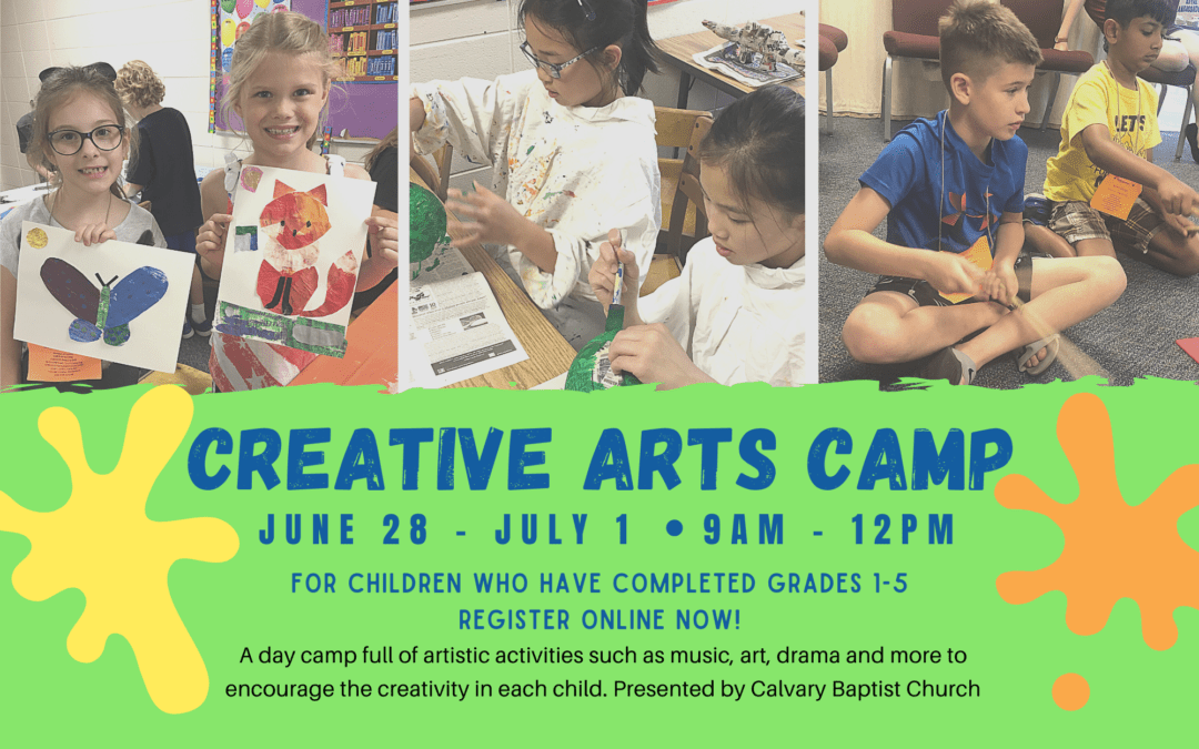 Creative Arts Camp 6/28-7/1