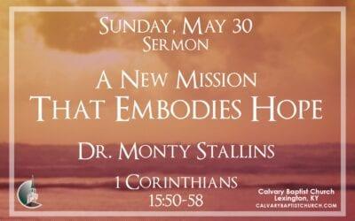 Sunday with Calvary 5/30/21