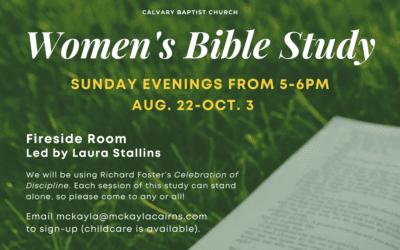 Fall Women's Bible Study 8/22/21