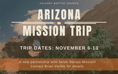 Arizona Mission Trip Interest Meeting 8/8/21