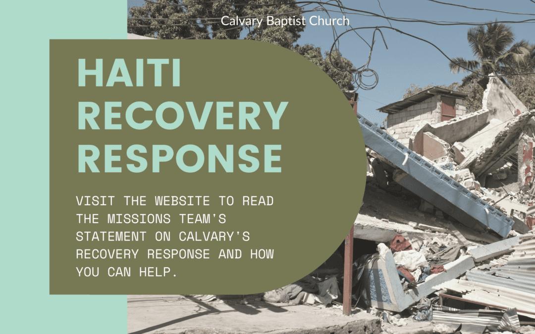 Haiti Recovery Response