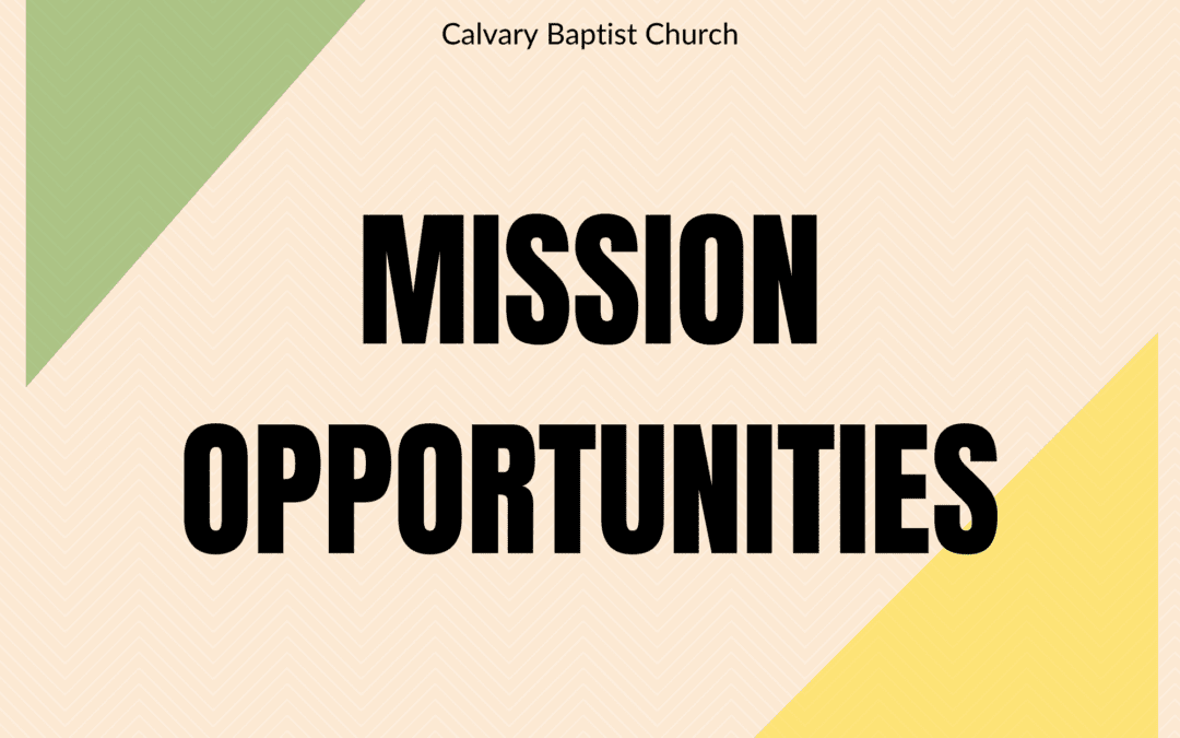 Mission Opportunities Fall 2021