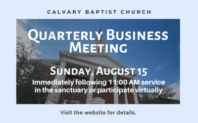 Quarterly Business Meeting 8/15/21