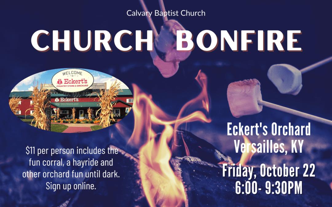Church Bonfire at Eckert's 10/22/21