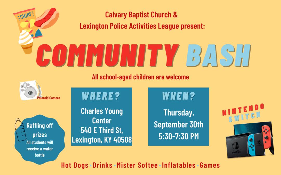 Community Bash 9-30-21