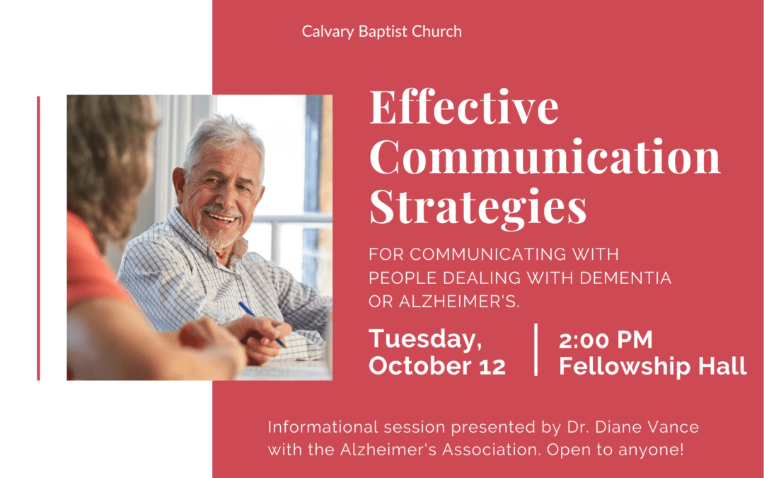 Effective Strategies for Communicating with People Dealing with Dementia