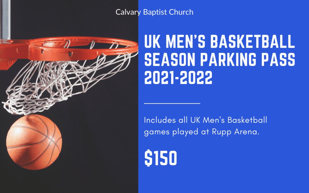 UK Men's Basketball Season Parking Pass at Calvary 2021 2022
