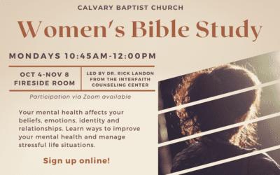 Women's Bible Study begins Oct. 4