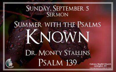 Sunday with Calvary 9/5/21