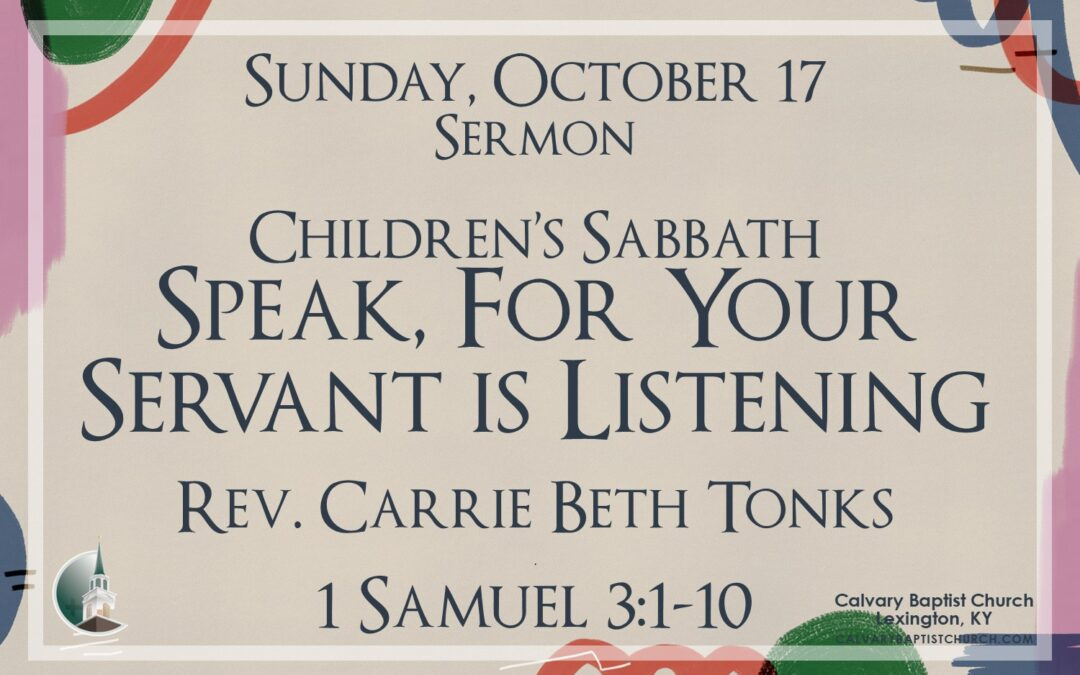 Sunday with Calvary 10/17/21
