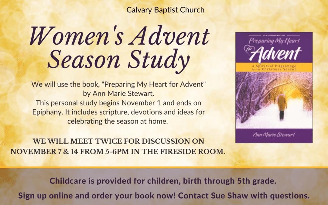 Women's Advent Season Study 11/1/21